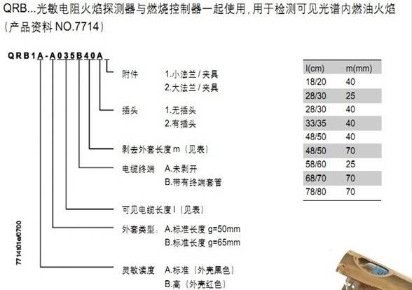 qrb1-西门子火焰探测器-深圳永宏光官网